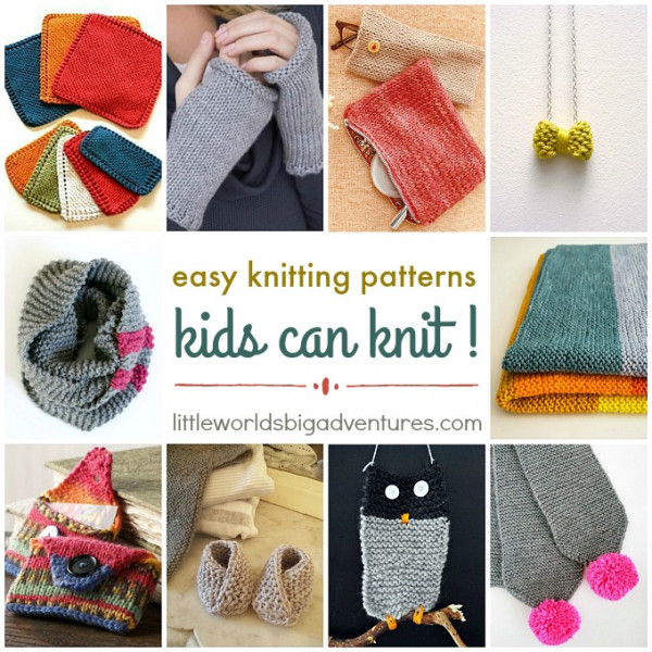 Easy Knitting Patterns Kids Can Knit Knitting