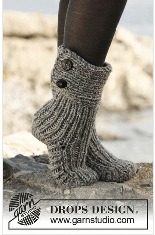 moon socks knitting pattern DROPS