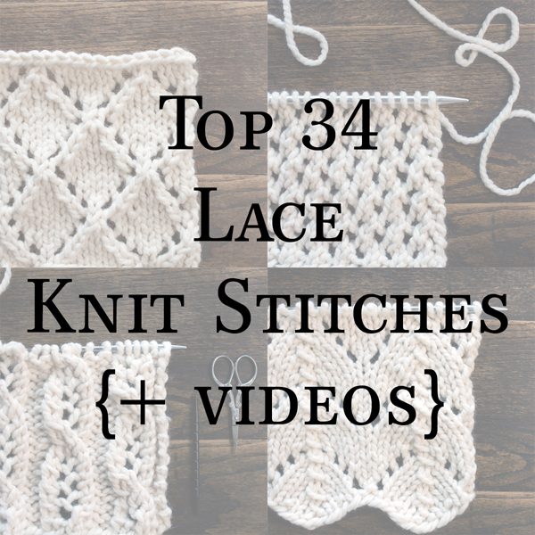 lace knitting stitches ebook