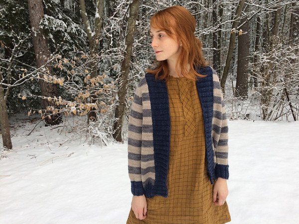 Add Some Stripes To Your Life With This Simple Cardigan Knitting