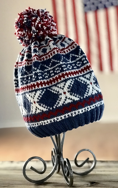 team usa hat knitting pattern