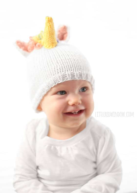 unicorn hat kids knitting pattern