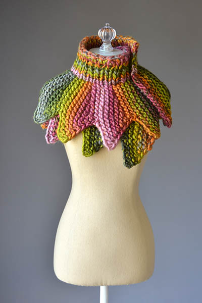 18 petals scarf knitting pattern
