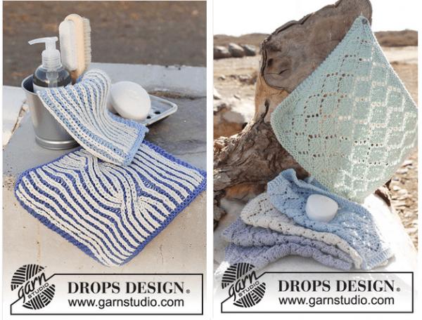 spring washcloth knitting patterns