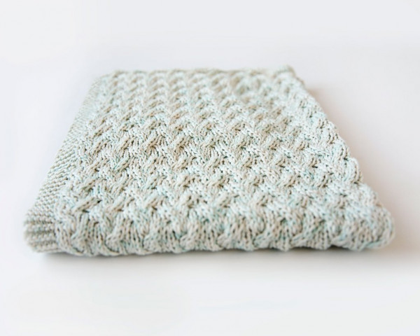 waterfall baby blanket knitting pattern