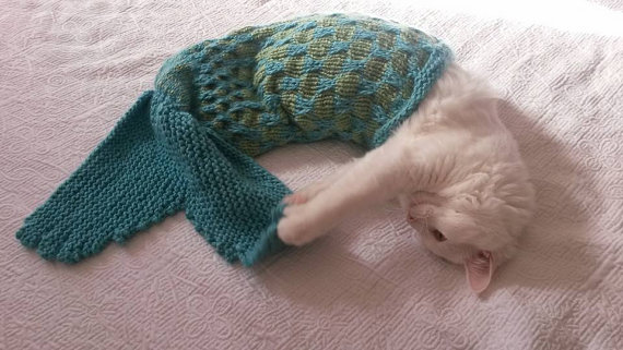 cat mermaid tail blanket