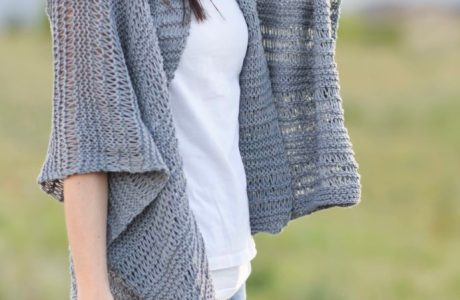 Knit a Cotton Kimono with Drop Stitch for Summer