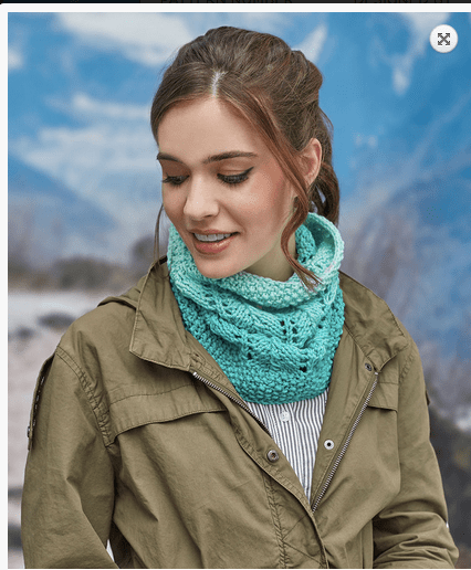 lace cowl ombre yarn