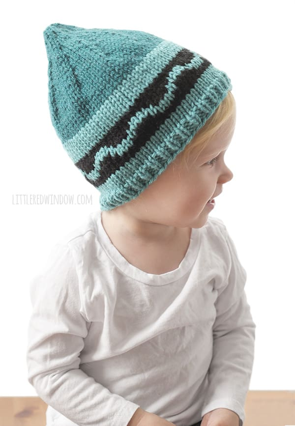 crayon hat kids knitting pattern