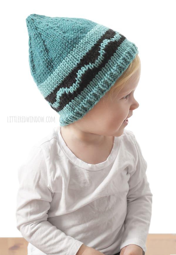 crayon hat kids knitting pattern