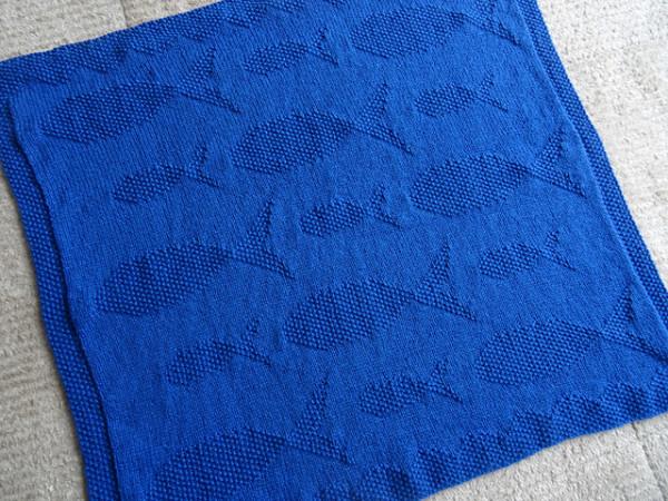 fish blanket knitting pattern