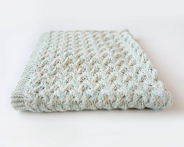 waterfall baby blanket knitting pattern