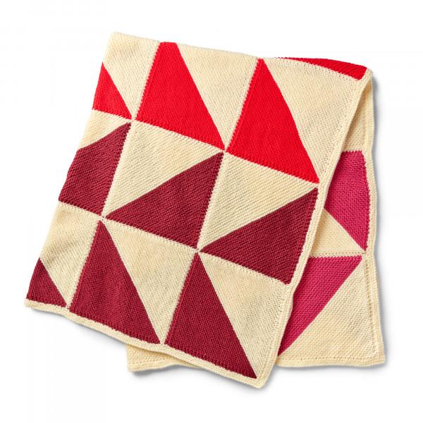 mitered square knit blanket