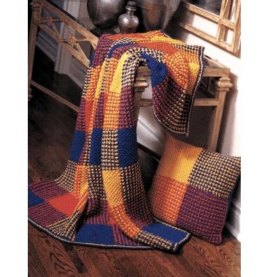 plaid knit blanket