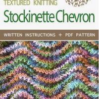 Learn a New Stitch: Stockinette Chevron