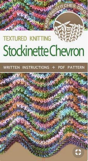 stockinette chevron knitting stitch pattern
