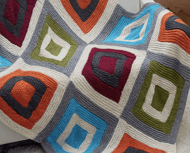 Make a Super Cozy Afghan from Knit Blocks
