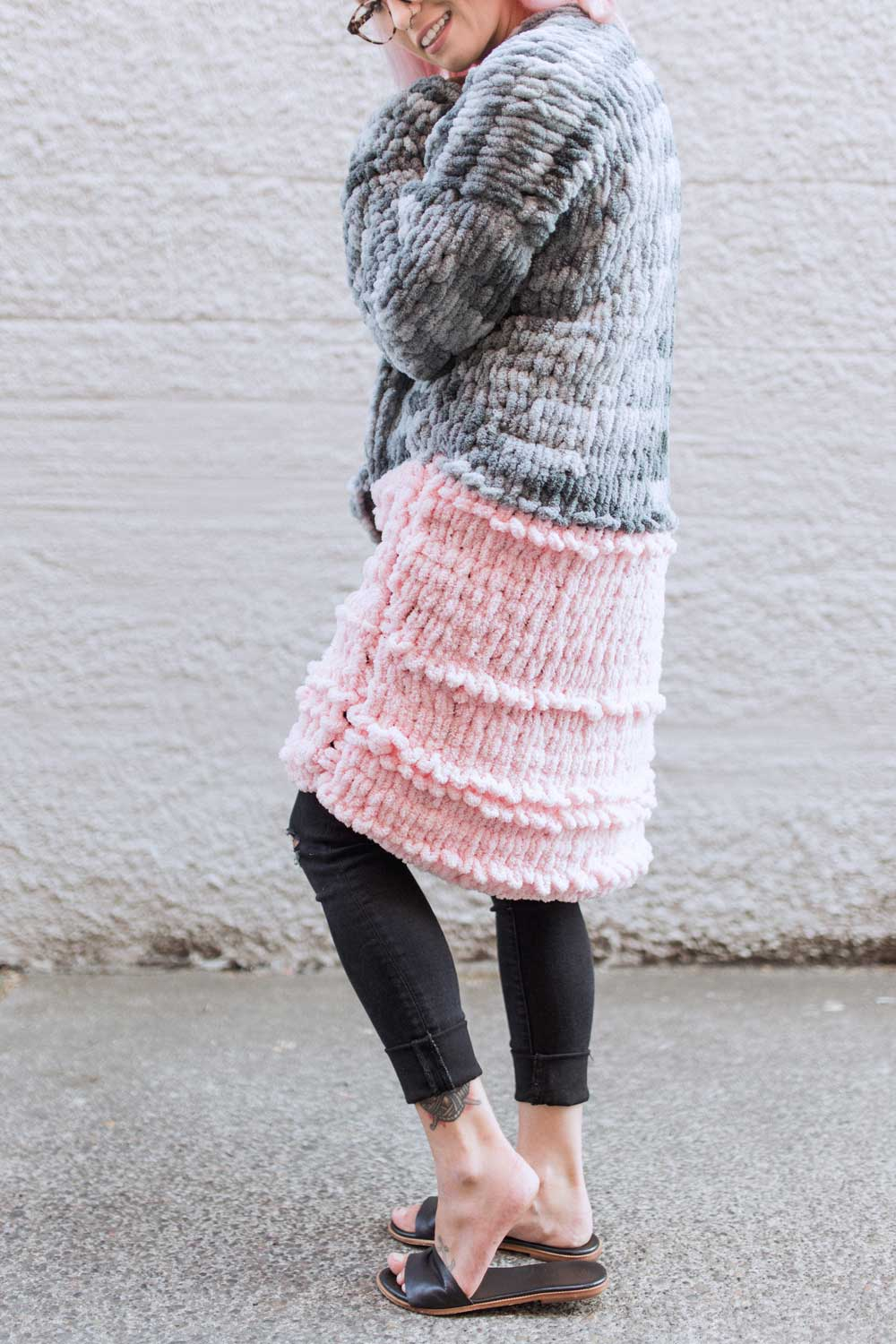"""Knit"""" a Giant Sweater with Loop Yarn – Knitting"""