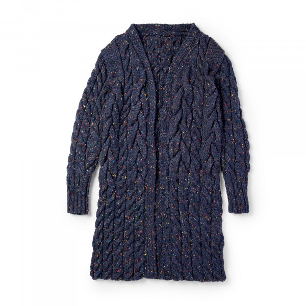 rope cabled cardigan knitting pattern
