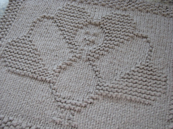 turkey knit dishcloth