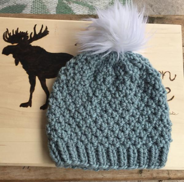seed stitch hat knitting pattern
