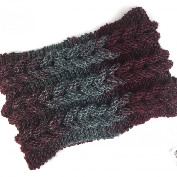 3D cowl knitting pattern