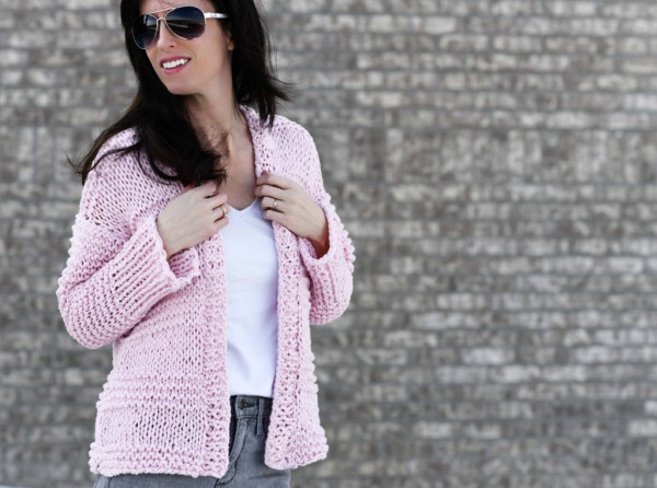 cotton candy easy cardigan