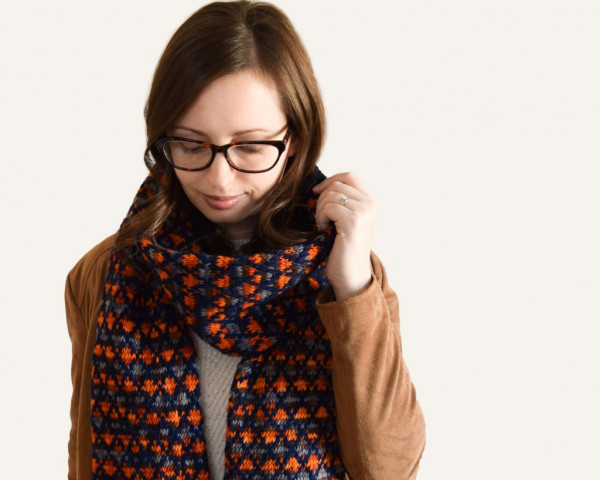 latticework scarf knitting pattern