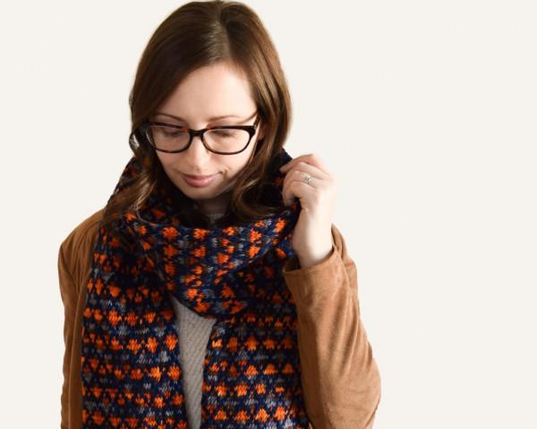 latticework scarf knitting pattern