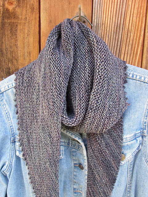 simple garter stitch shawl