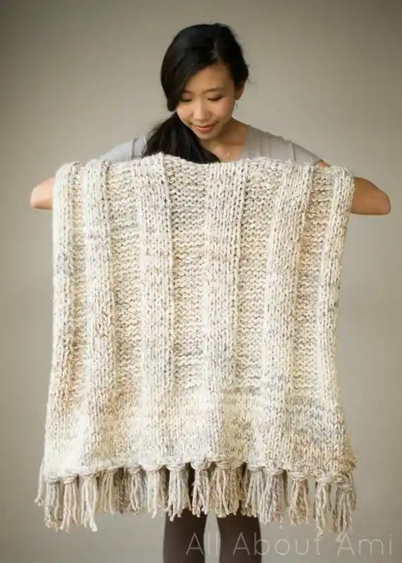 chunky knit blanket knitting pattern