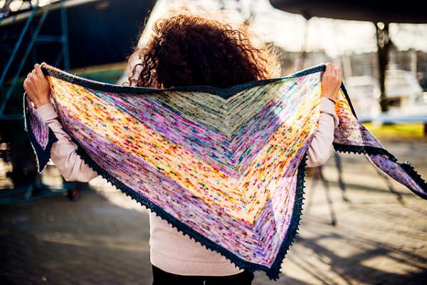 vibrance shawl knitting pattern