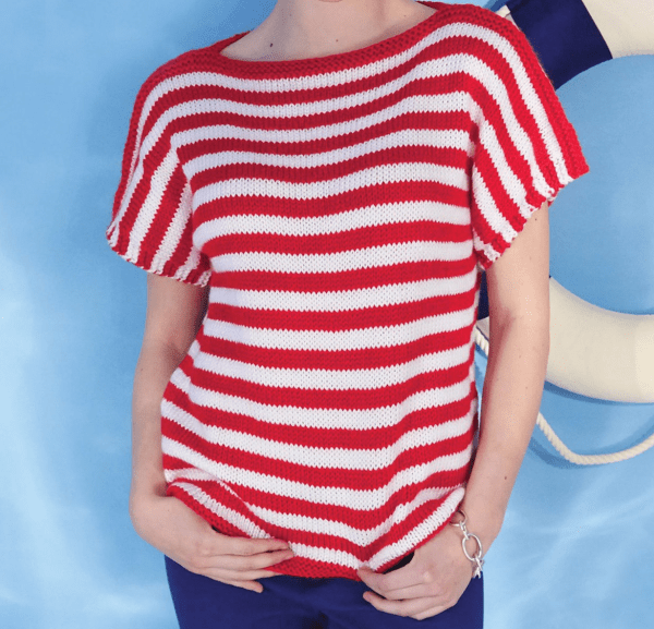 Summery Stripes Make this Top Fun to Knit