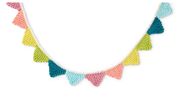Brighten Up Any Space with a Knit Bunting