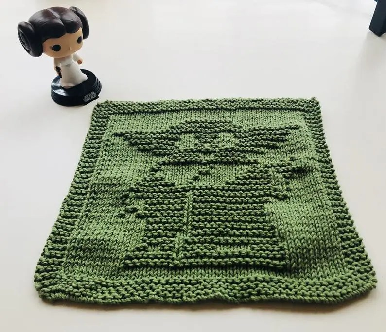 Knitting Cloth Pattern - ELEPHANT FACE - PDF | Dishcloth knitting ... | 684x794