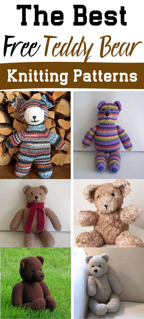 The Best Free Teddy Bear Knitting Patterns - Knitting