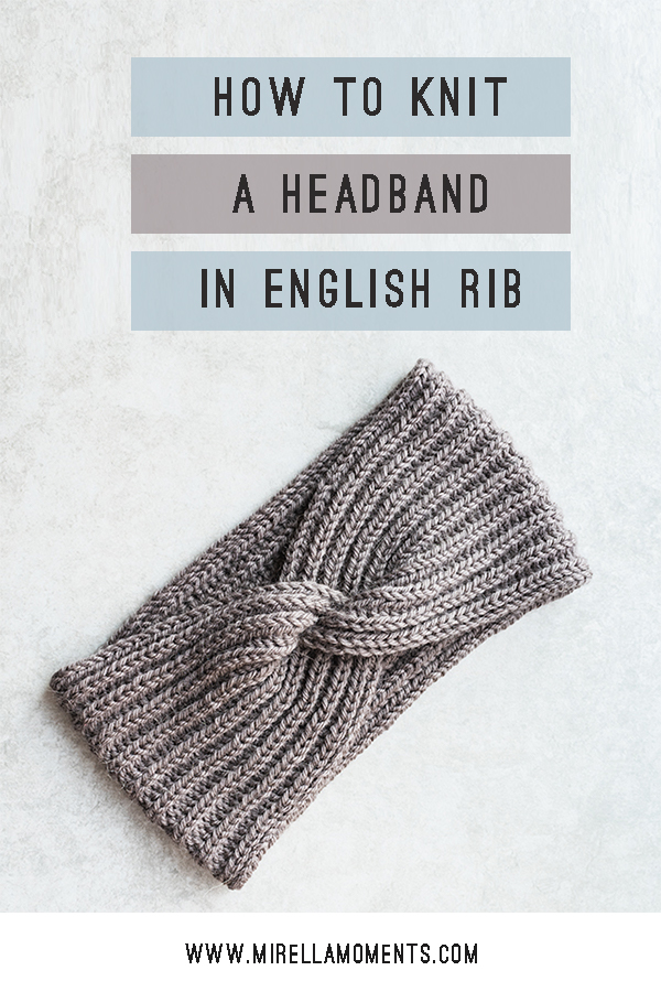 This Easy Ribbed Headband Knitting Pattern Has a Fun Twist ...