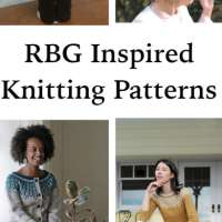 Honoring Ruth Bader Ginsburg in Knitting