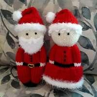 Knit Santa and Mrs. Claus