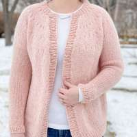 Easy Eyelet Yoke Cardigan Knitting Pattern