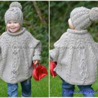 Knitting Pattern - Temptation Poncho and Hat Set
