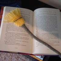 Broomstick Bookmark Knitting Pattern