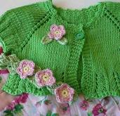 Knitted baby dress, vest, cardigan, sweater, overalls patterns (114)
