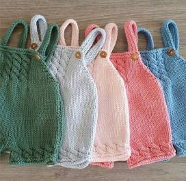 Knitted baby dress, vest, cardigan, sweater, overalls patterns (125)