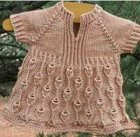 Knitted baby dress, vest, cardigan, sweater, overalls patterns (154)