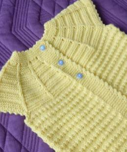 Knitted baby dress, vest, cardigan, sweater, overalls patterns (227)