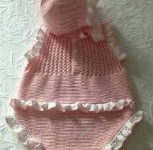 Knitted baby dress, vest, cardigan, sweater, overalls patterns (238)