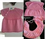 Knitted baby dress, vest, cardigan, sweater, overalls patterns (272)