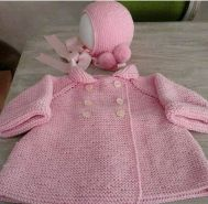 Knitted baby dress, vest, cardigan, sweater, overalls patterns (277)