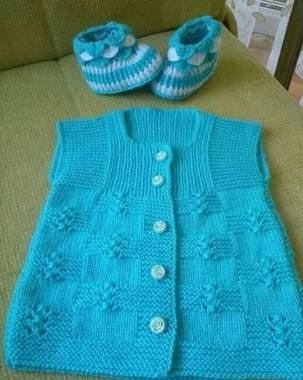 Knitted baby dress, vest, cardigan, sweater, overalls patterns (279)